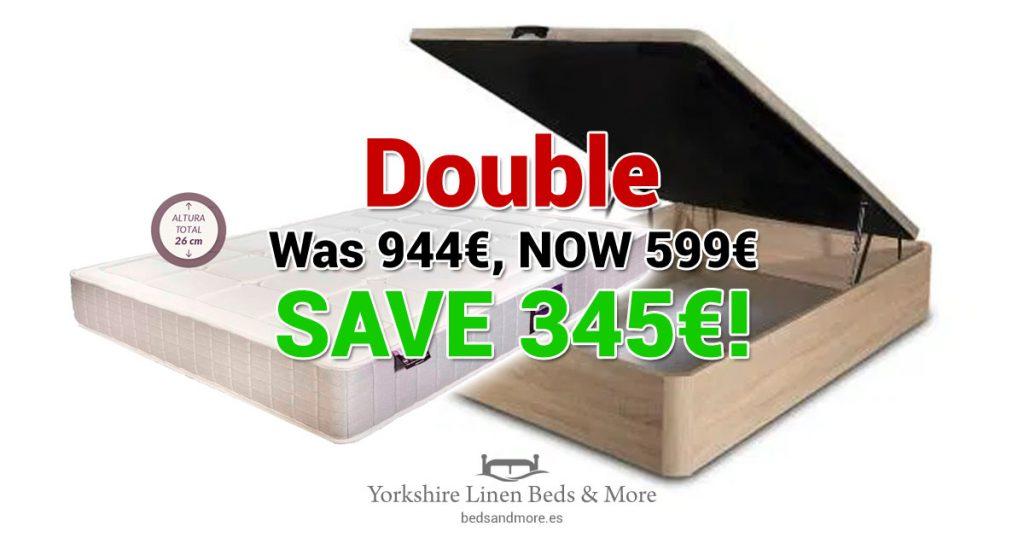 Bed & Mattress Offer - Double - Yorkshire Linen Beds & More OG01