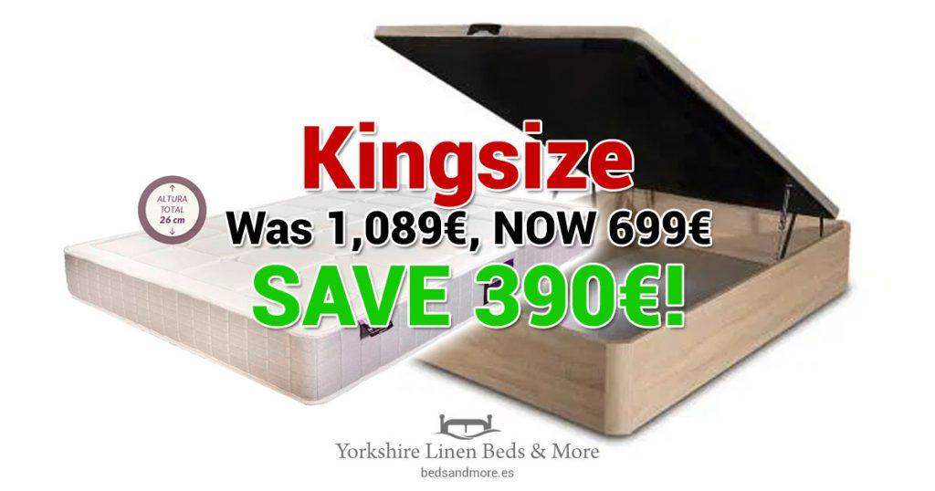 Bed & Mattress Offer - Kingsize - Yorkshire Linen Beds & More OG01