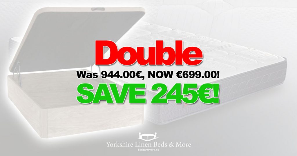 Bed and Mattress Deal 25pc Off Double Yorkshire Linen Beds & More OG01
