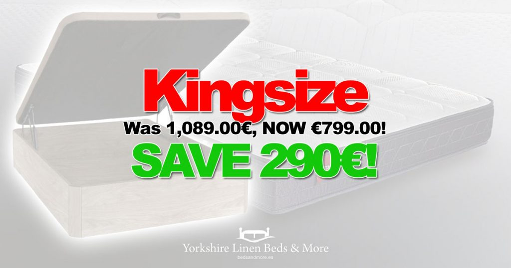 Bed and Mattress Deal 25pc Off Kingsize Yorkshire Linen Beds & More OG01