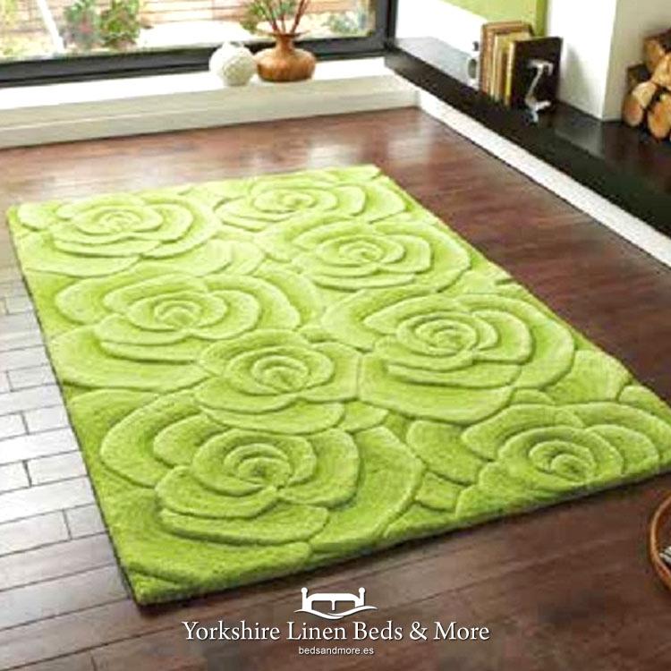 Valentine Green Chiselled Rug