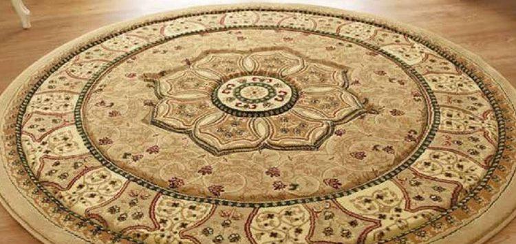 Heritage Traditional Round Rug, Beige