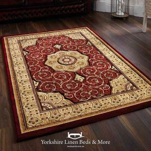 Heritage Traditional Rug, Red