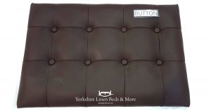 Button Headboard in Faux Leather Square Stitching OG01