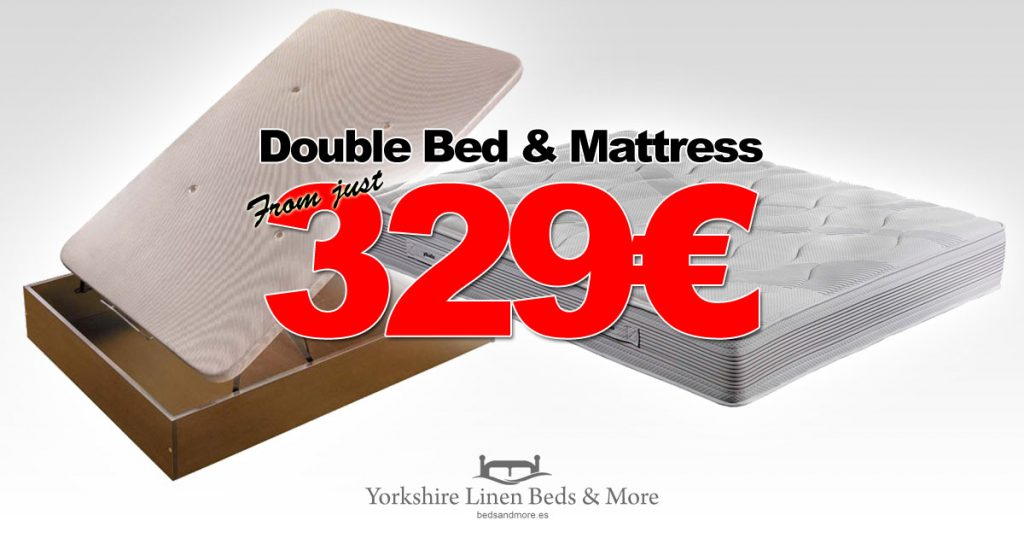 ECO Double Storage Bed & Base Offer Yorkshire Linen Beds & More OG01