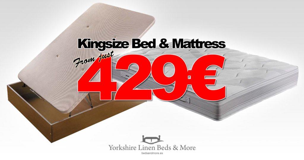 ECO Kingsize Storage Bed & Base Offer Yorkshire Linen Beds & More OG01
