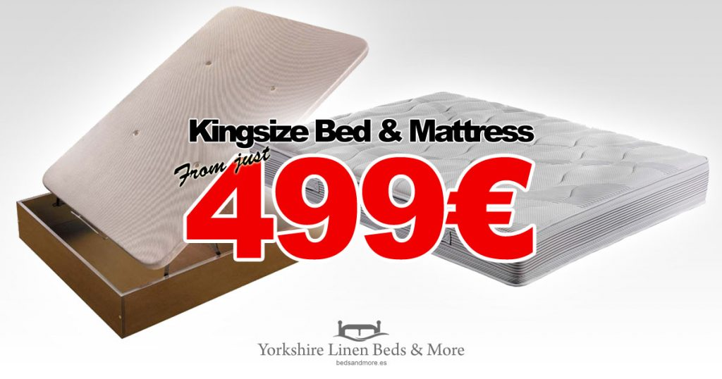 ECO Kingsize Storage Bed & Base Offer Yorkshire Linen Beds & More OG02