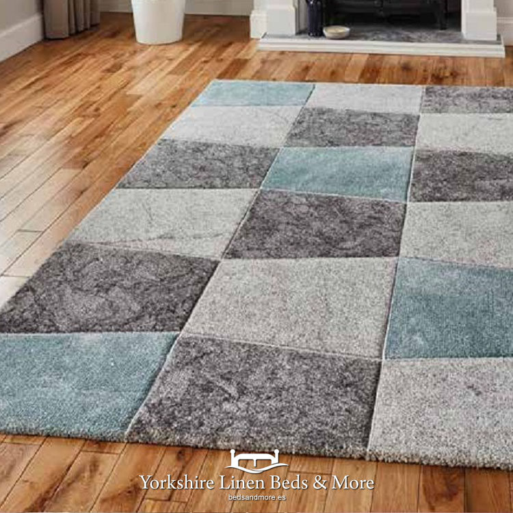 Brooklyn Rug, Grey & Blue