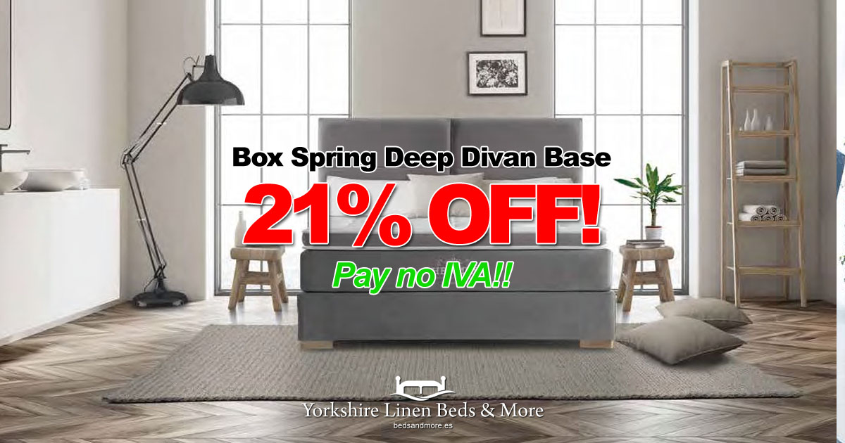 Box Spring Deep Divan Base – SAVE 21%!