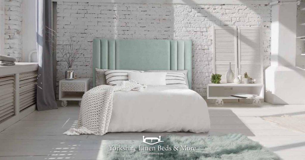 Box Spring Deep Divan Base Yorkshire Linen - Beds & More OG03