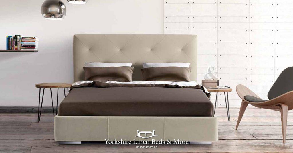 Box Spring Deep Divan Base Yorkshire Linen - Beds & More OG04