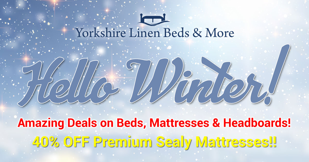 Winter Discounts! SAVE on Beds, Mattresses & Headboards!